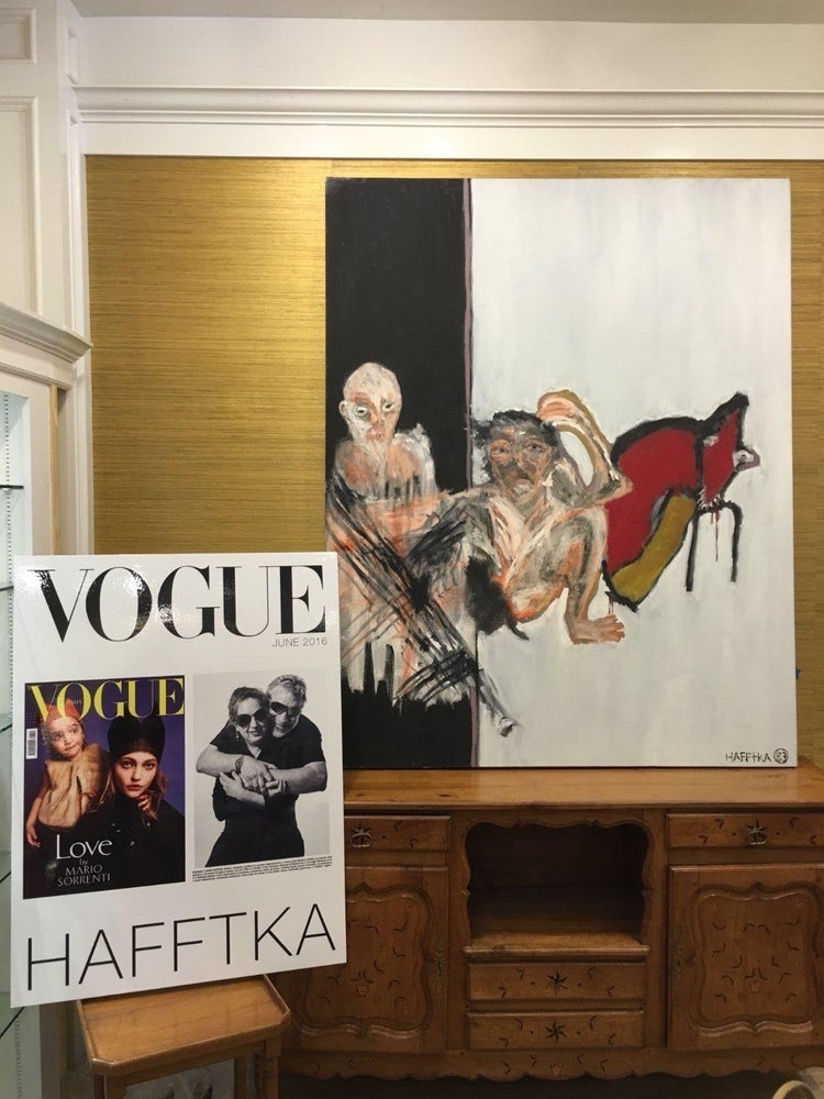 Image of ORIGINAL PAINTING BY MICHAEL HAFFTKA - FEATURED ARTIST VOGUE ITALY JUNE 2016