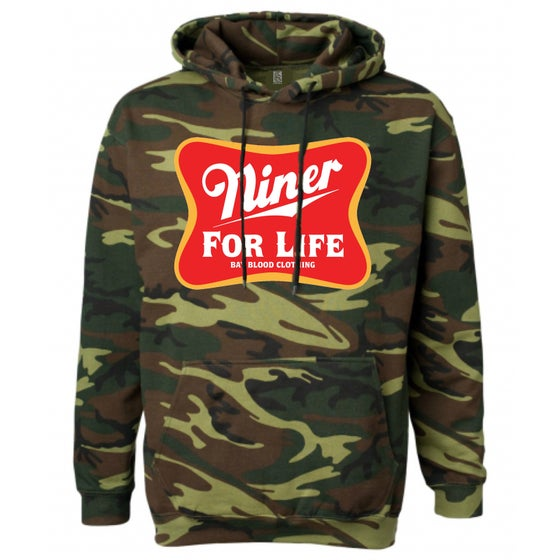 Image of CAMO NINER FOR LIFE HOODIES