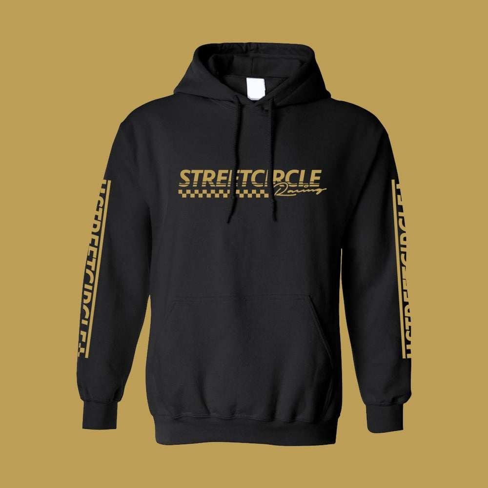 Image of StreetCircle Racing Hoodie (Black/Gold)