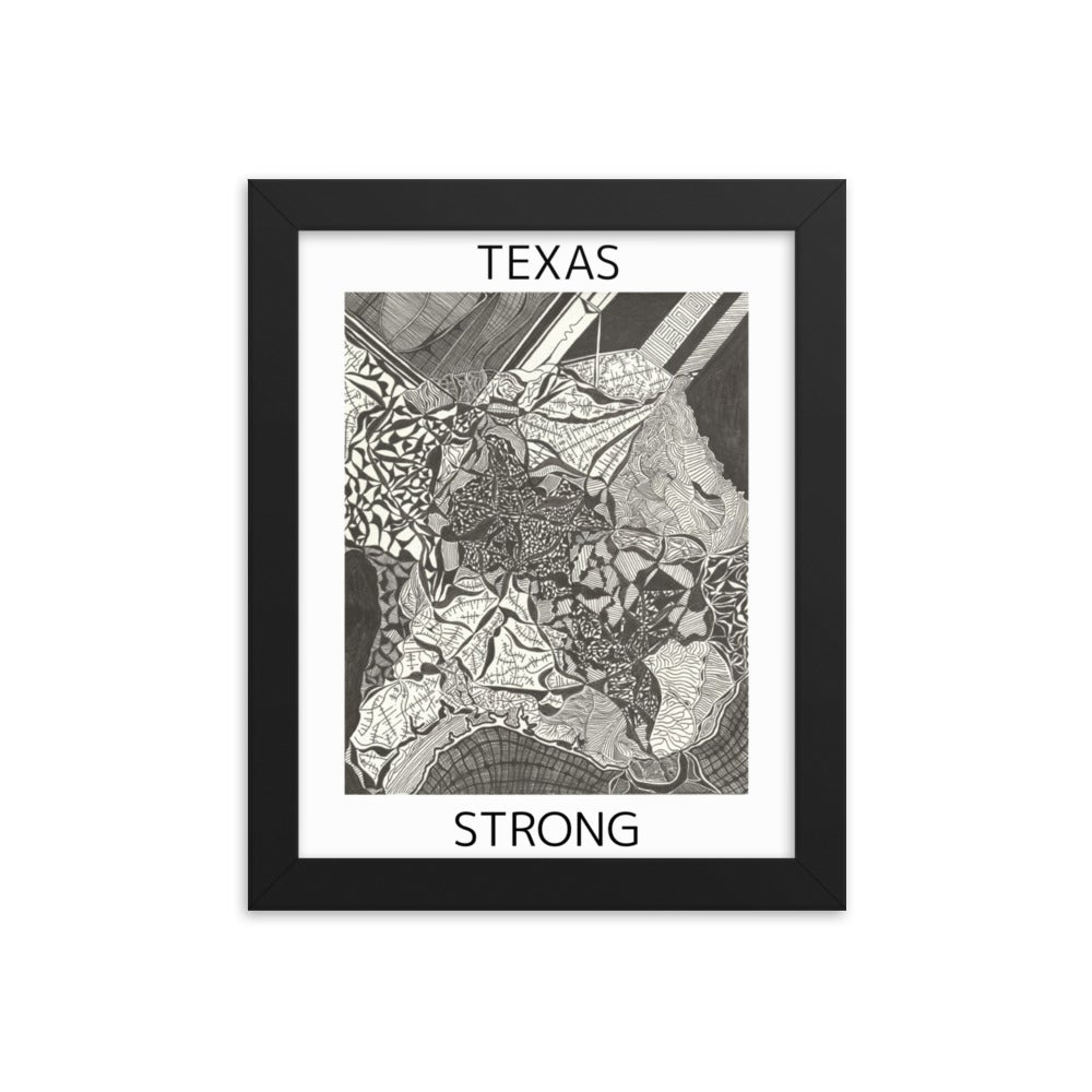Image of Texas Strong Framed Poster ($10 for Black Lives Matter: Houston)