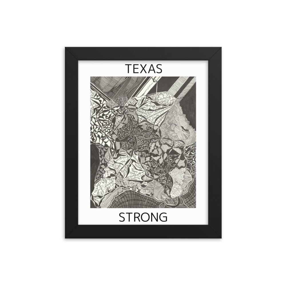 Image of Texas Strong Framed Poster ($10 for Black Lives Matter: Houston)