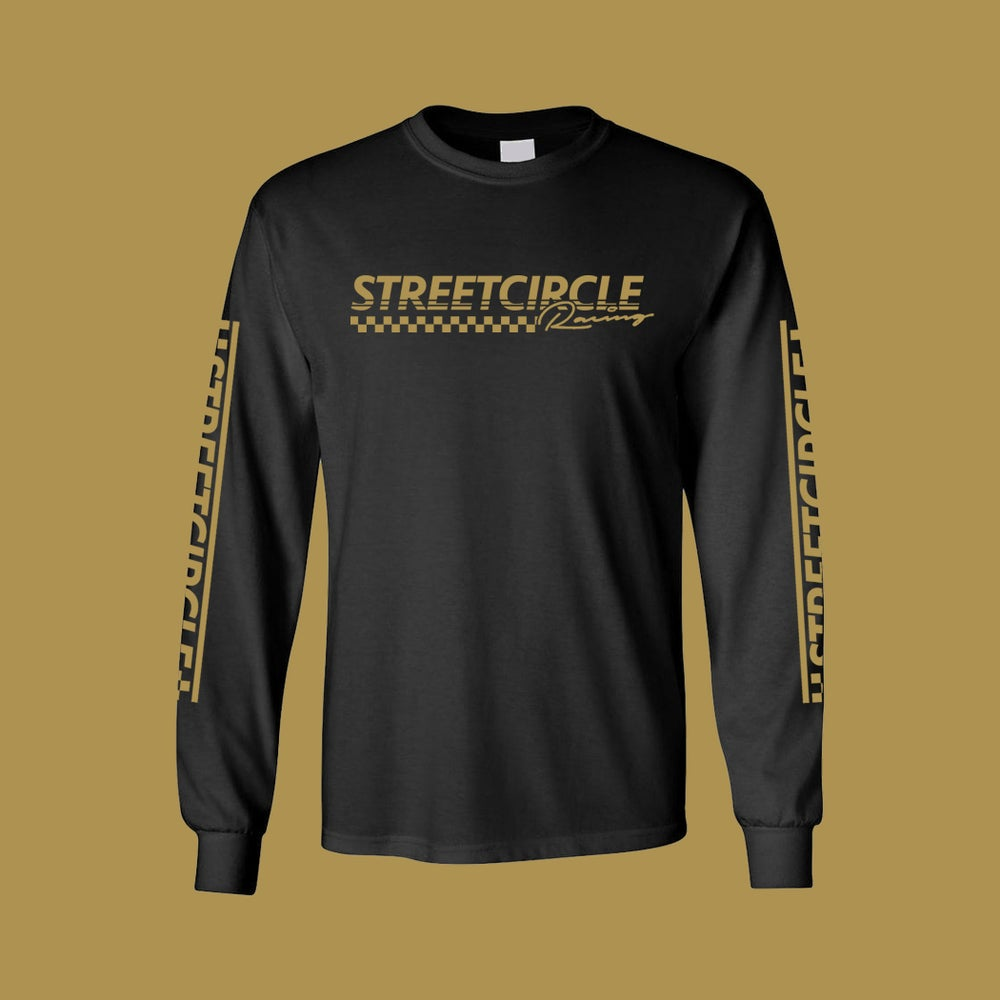 Image of StreetCircle Racing Long Sleeve T-Shirt (Black/Gold)