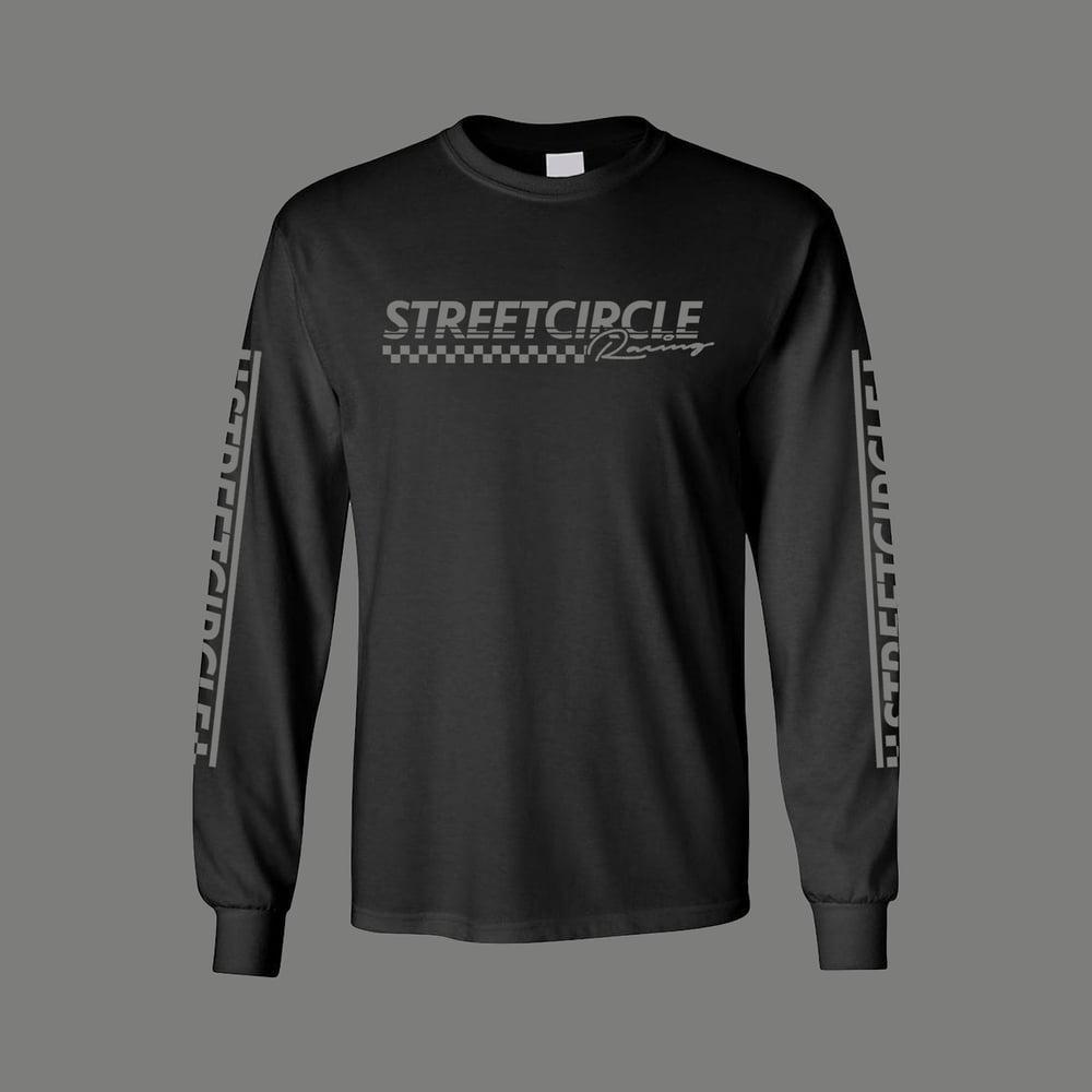 Image of StreetCircle Racing Long Sleeve T-Shirt (Black/Grey)