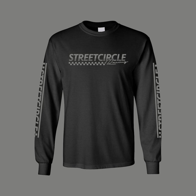 Image of StreetCircle Racing Long Sleeve T-Shirt (Black/Grey)