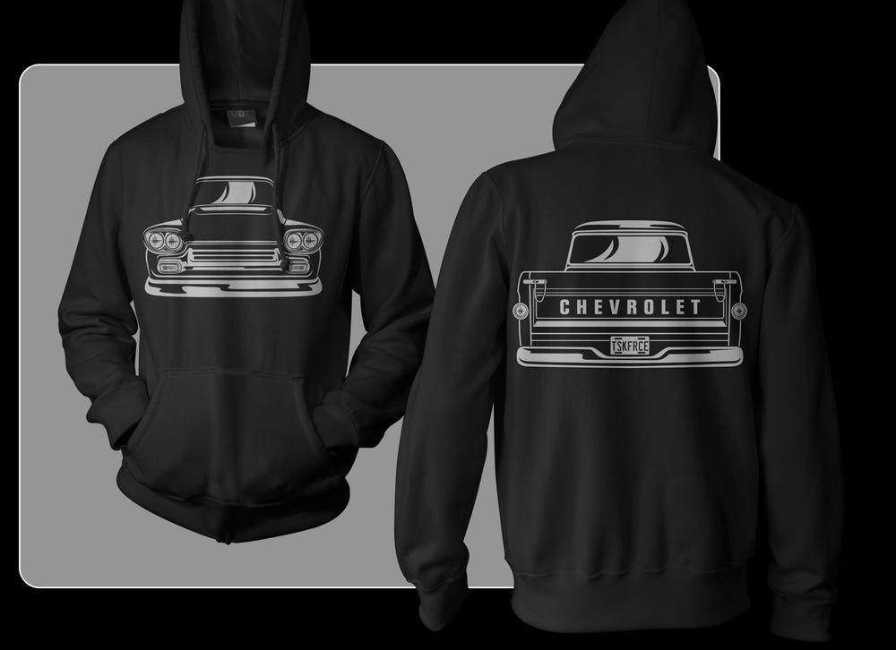 Image of Black Apache Front & Rear Pullover Hoodie
