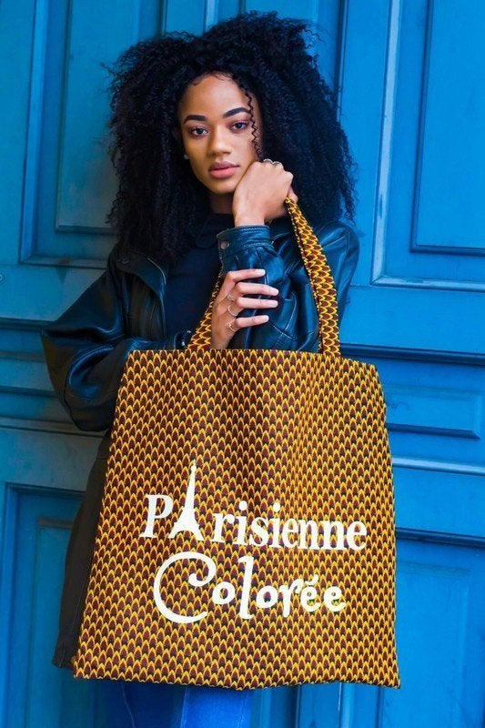 Image of Tote Bag XXL Ananas Parisienne Colorée 40% OFF