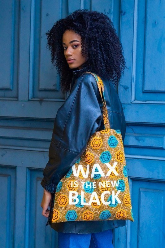 Image of Tote Bag Flowers Wax Is The New Black 40% OFF