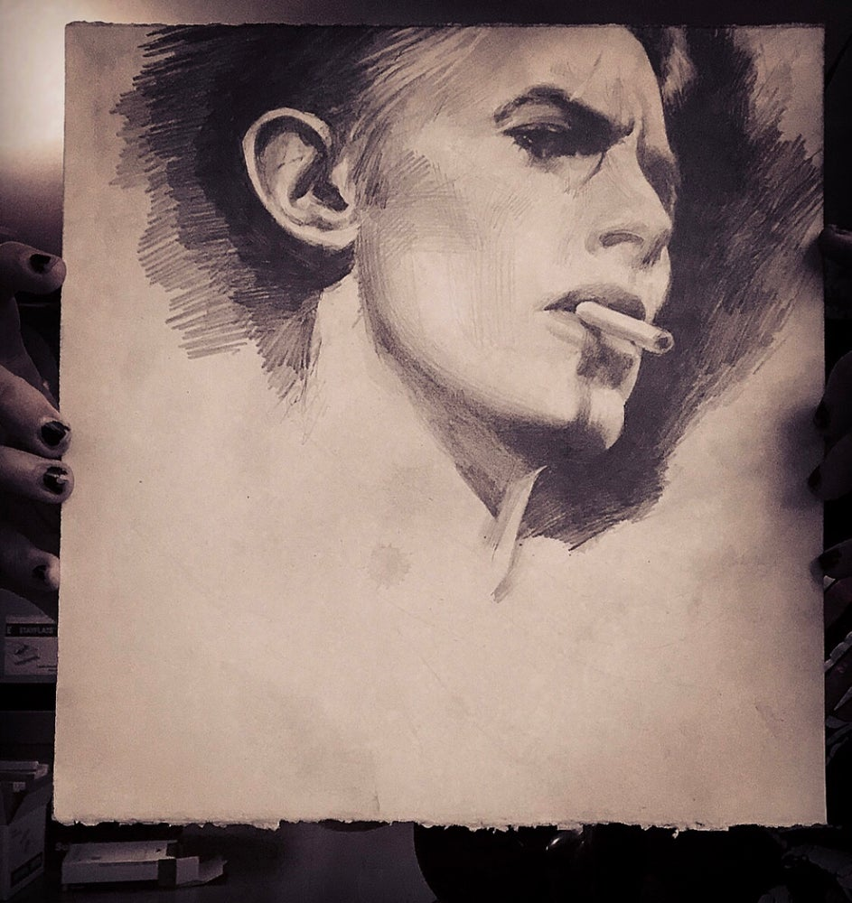 Image of 'ALMIGHTY BOWIE' - Limited Edition Museum Archival Print