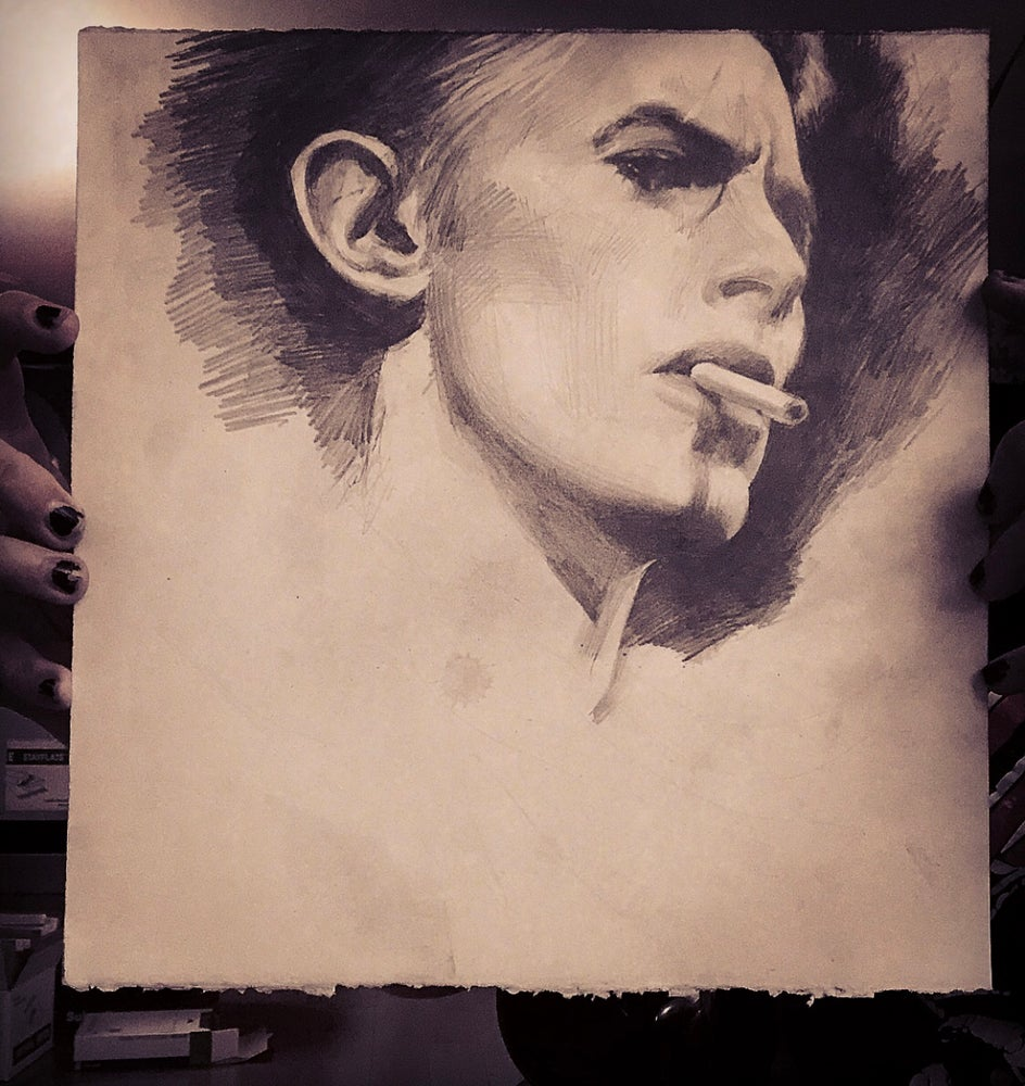 Image of 'ALMIGHTY BOWIE' - Original Artwork - Graphite on Paper