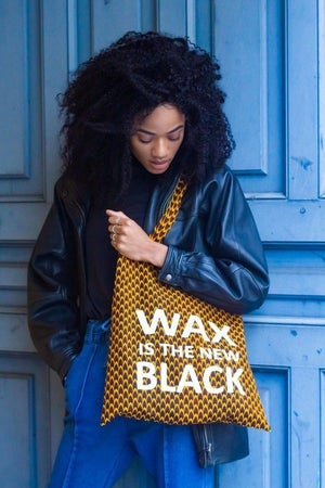 Image of Tote Bag Ecaille Wax Is The New Black 20% OFF