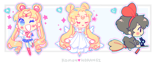 "Image of Sailor Moon and Kiki 2"" charm"