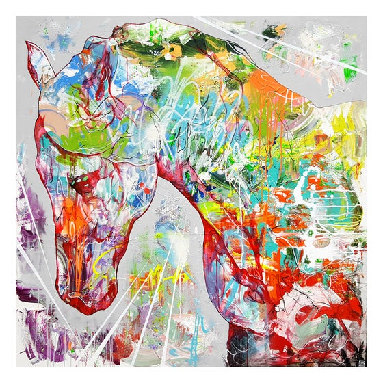 "Image of ""Horse"" OPEN EDITION PRINT - FREE WORLDWIDE SHIPPING"