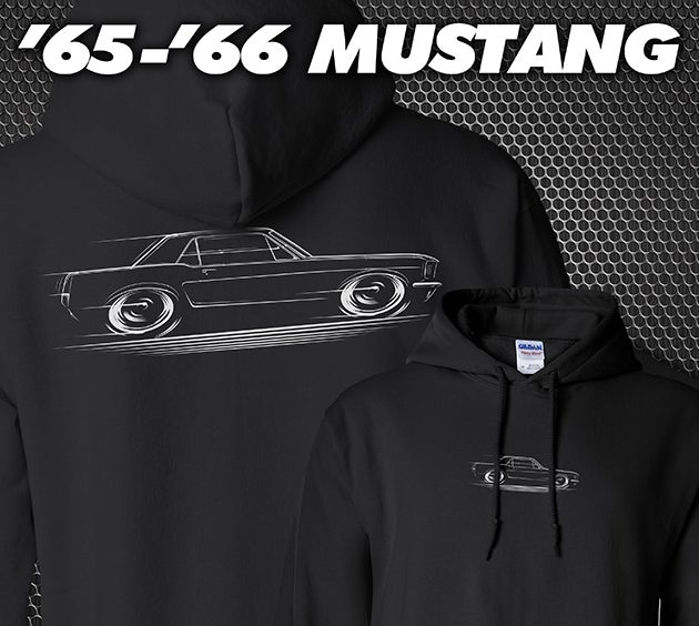 Image of '65-'66 Mustang Coupe T-Shirts Hoodies Banners
