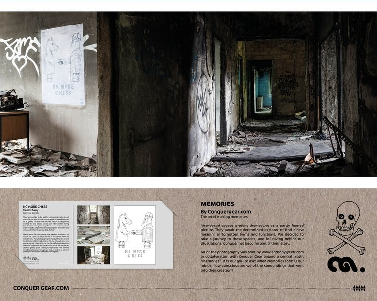 No More Chess - Burnt out Corridor