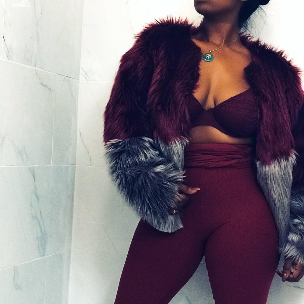 Image of Color Block Fur