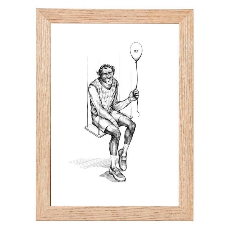 Monkey Swing Print