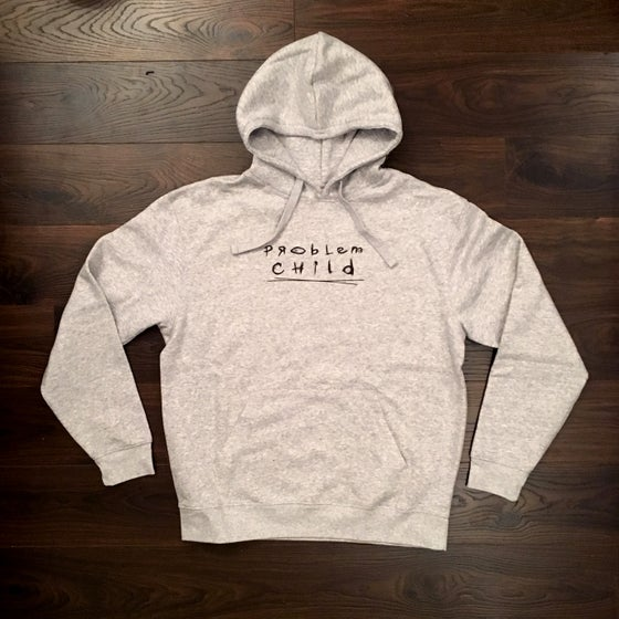 Image of Problem Child text Hoody - Ash Grey