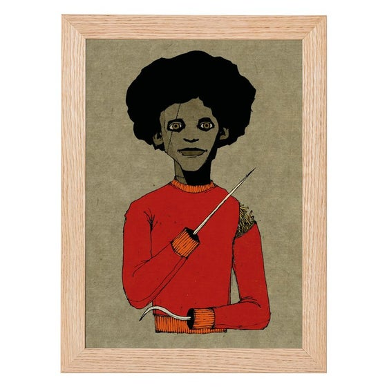 Image of Afro Spike Print