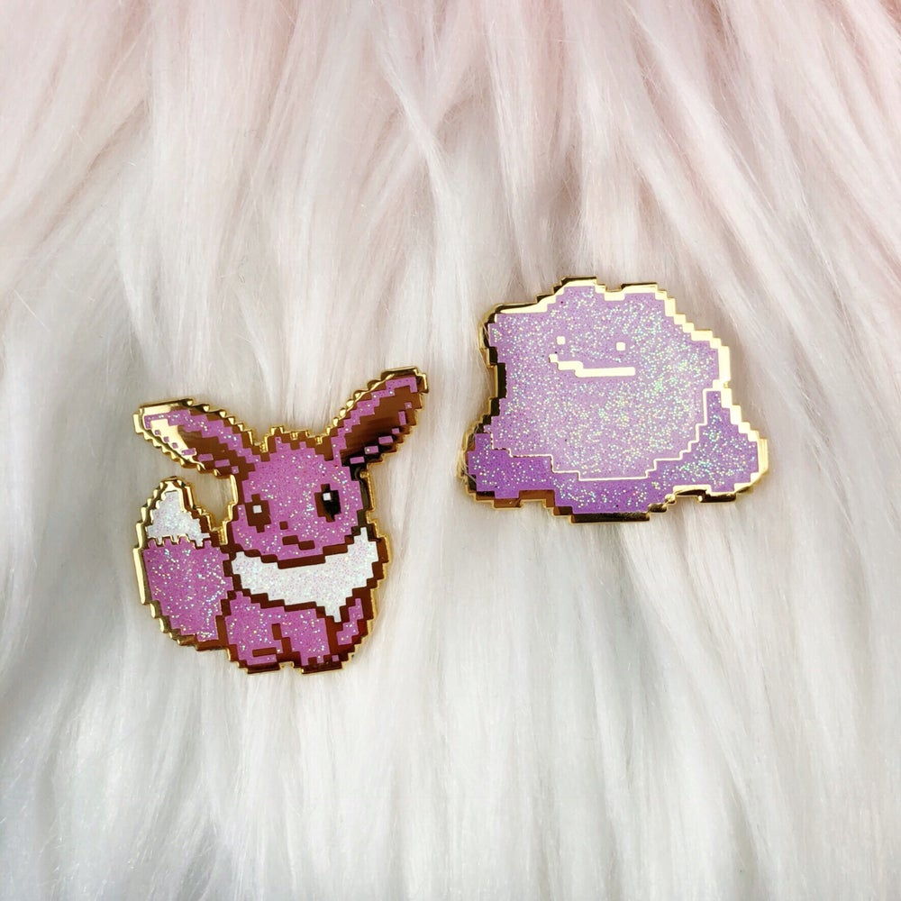 Image of 8bit Fennec Fox Enamel Pin