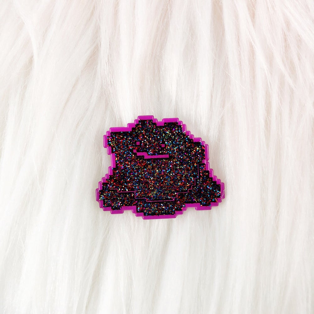 Image of LE100 Galaxy Blob Enamel Badge