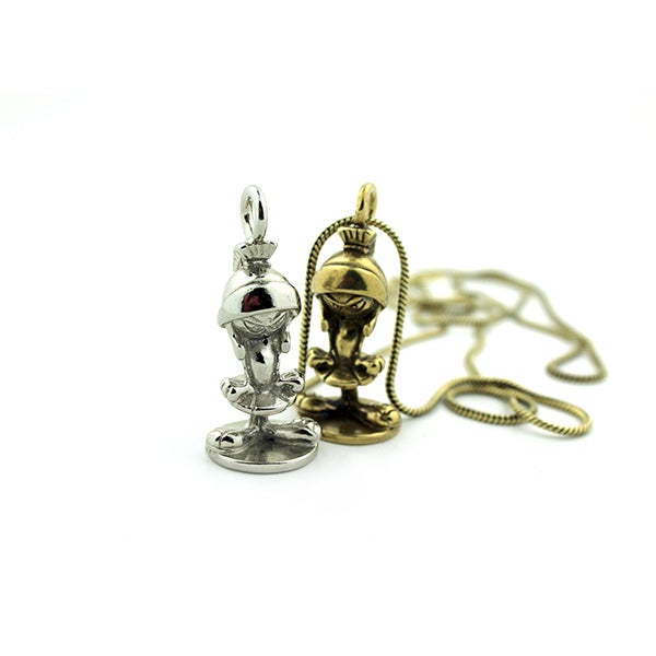 Image of MARVIN THE MARTIAN STATUE FIGURINE PENDANT NECKLACE