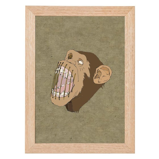 Image of Monkey in Stitches Print