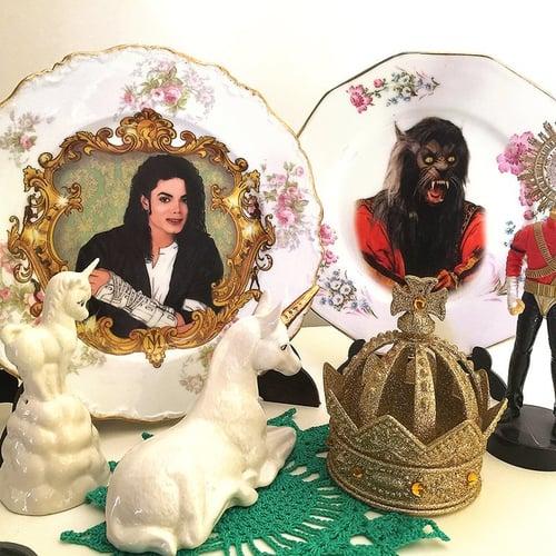 Image of The King Of Pop - Vintage Spanish fine porcelain Plate - #0720
