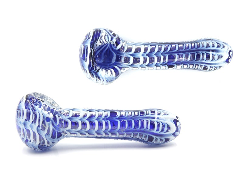 Image of Blu Wavy Pipe