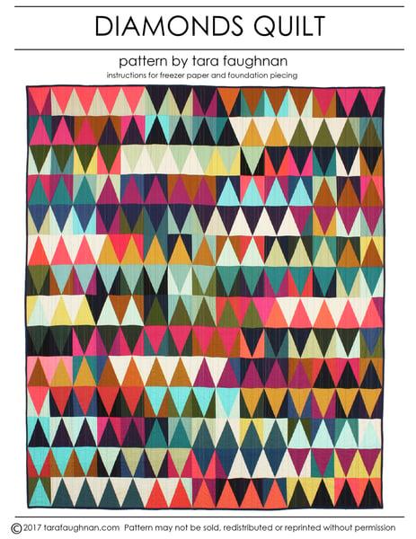 Image of Diamonds Quilt Pattern PDF