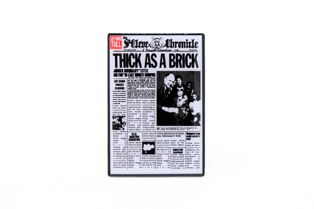Jethro Tull - Thick as a Brick Enamel Pin
