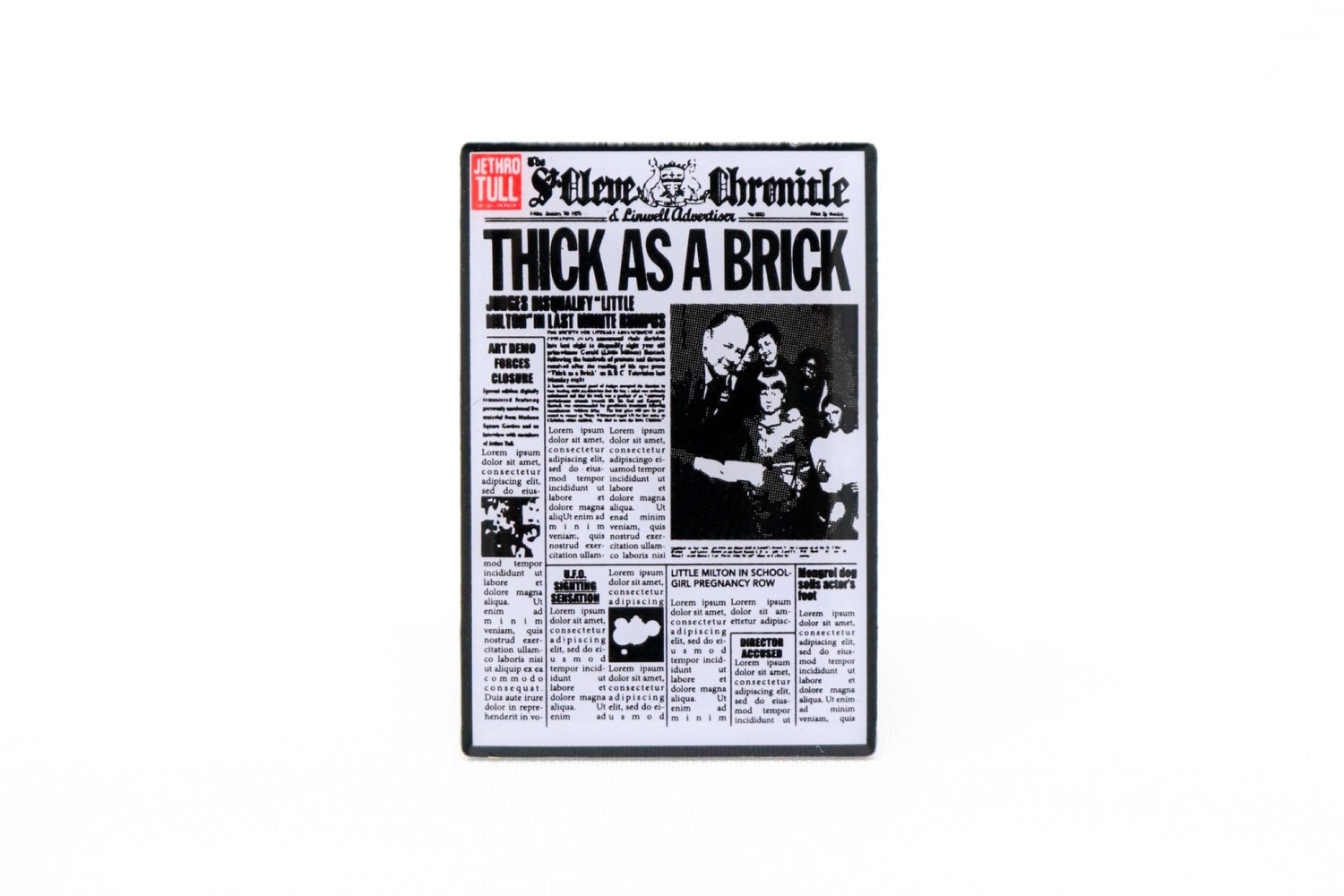 Image of Jethro Tull - Thick as a Brick Enamel Pin