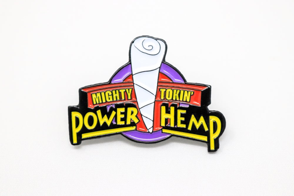 Mighty Tokin' Power Hemp Enamel Pin