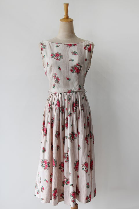 Image of SOLD Jerry Gilden Striped and Floral Dress