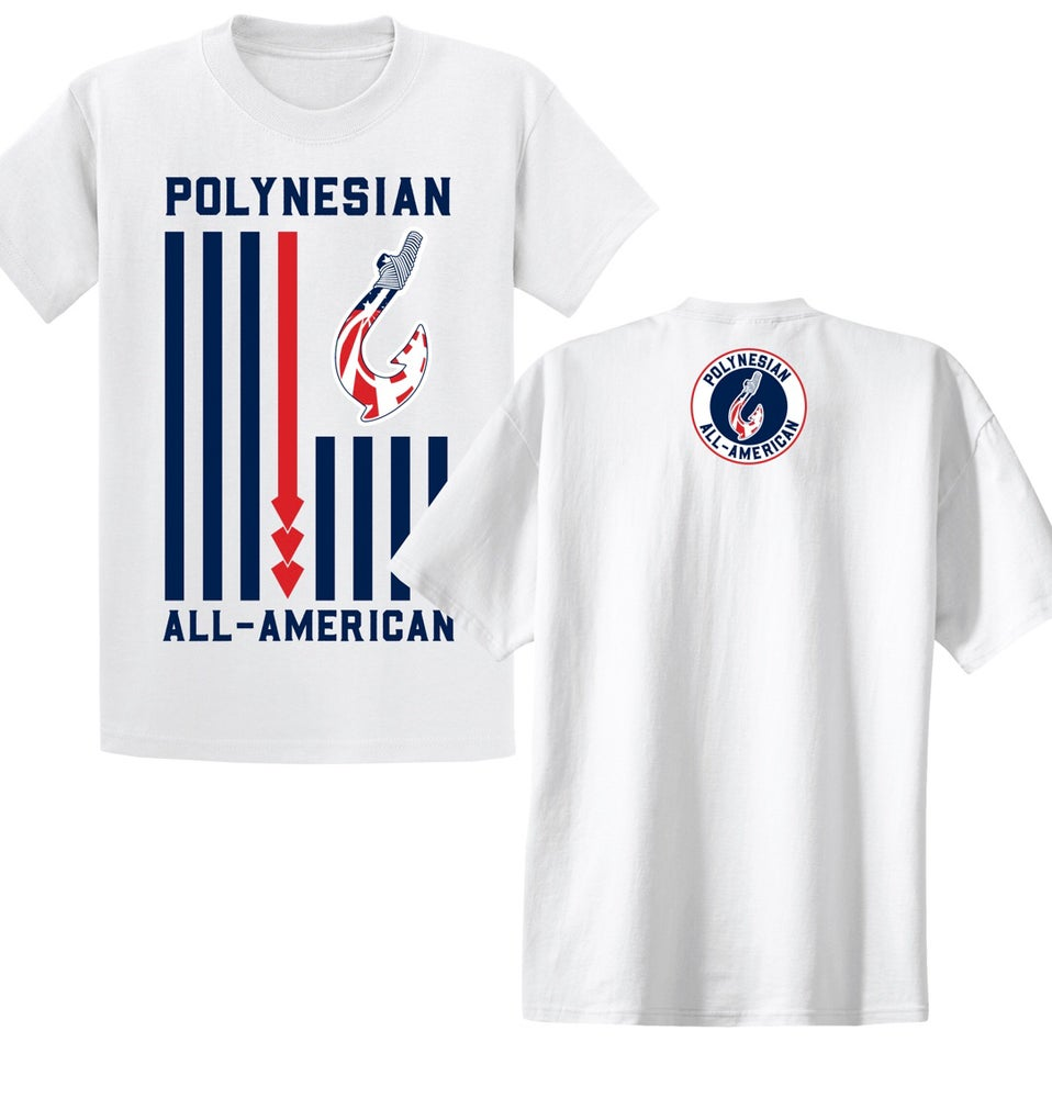 Image of Polynesian All-American Flag (White) S-XL
