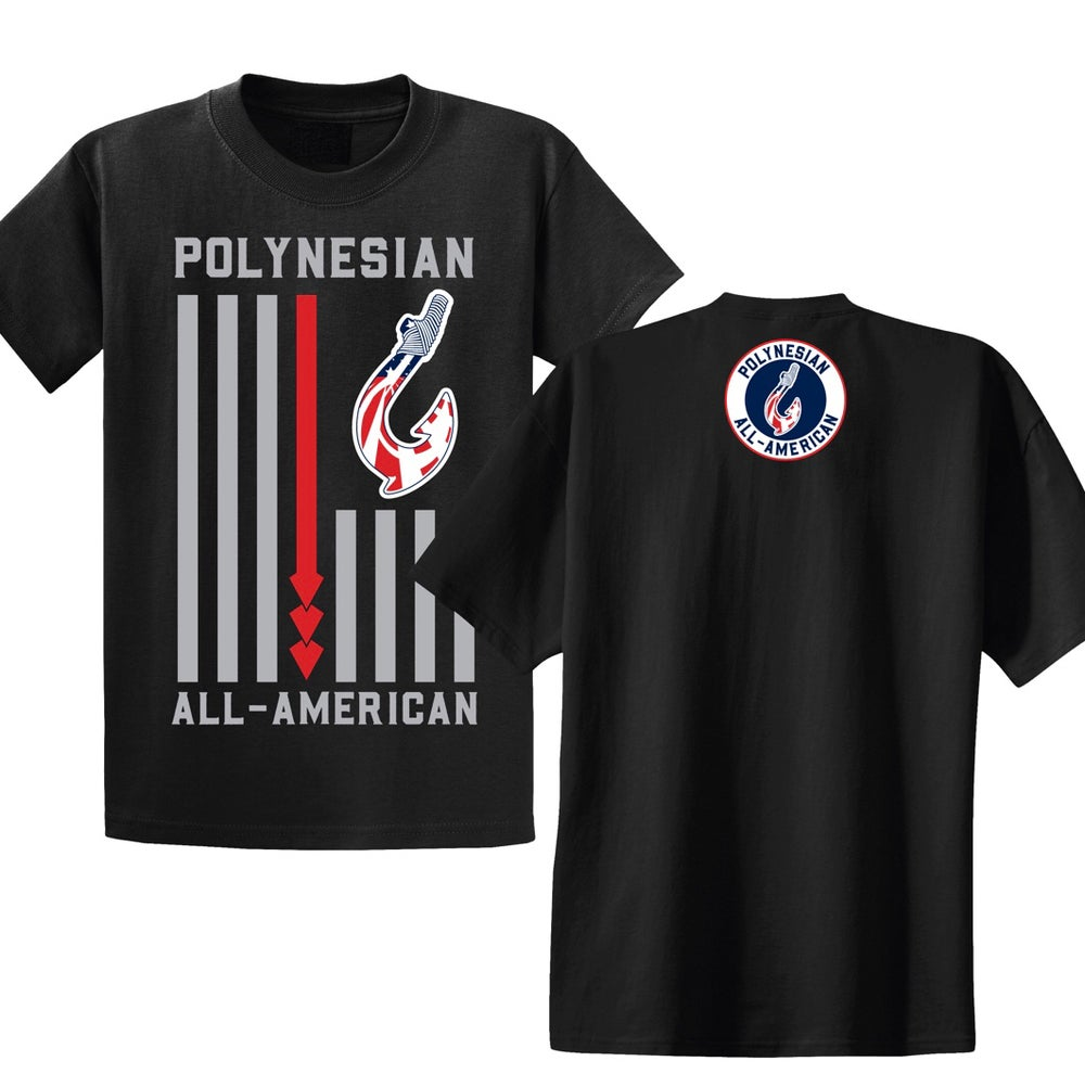 Image of Polynesian All-American Flag (Black) S-XL
