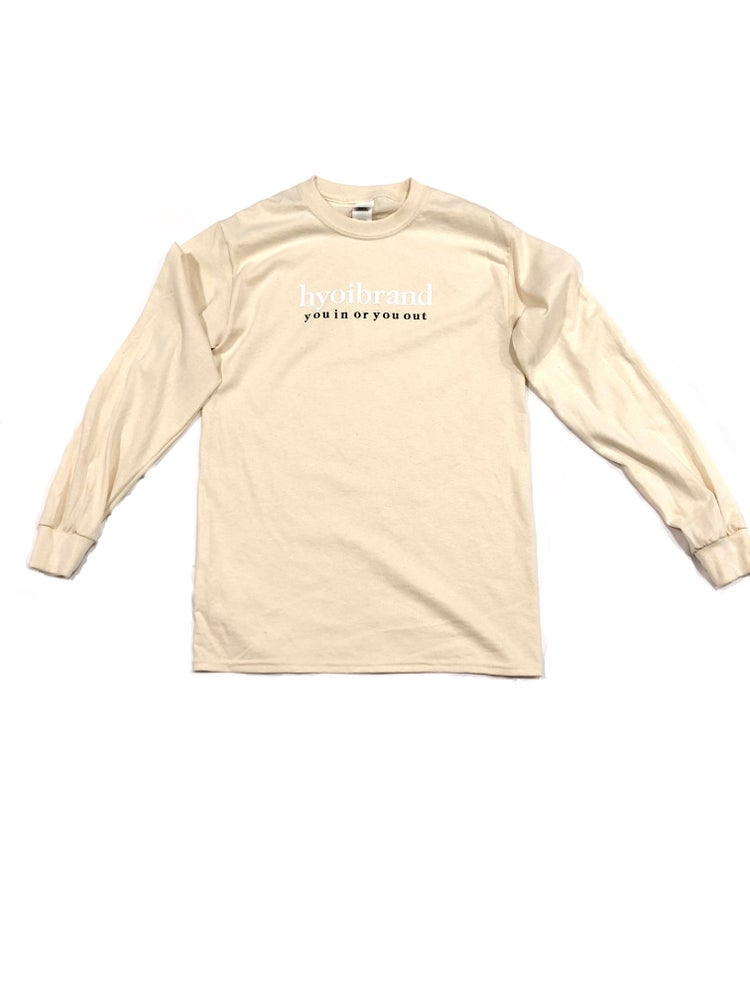 "Image of Cream ""Loyalty"" L/S Tee"