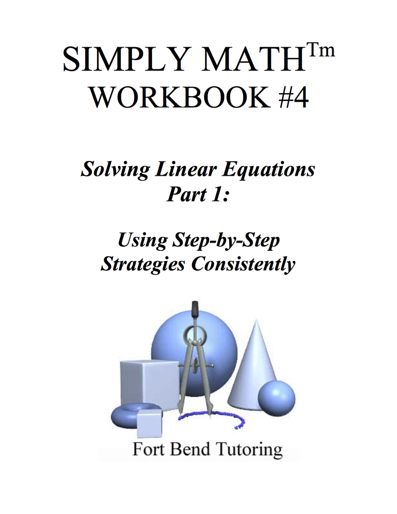 Image of Simply Math Workbook #4