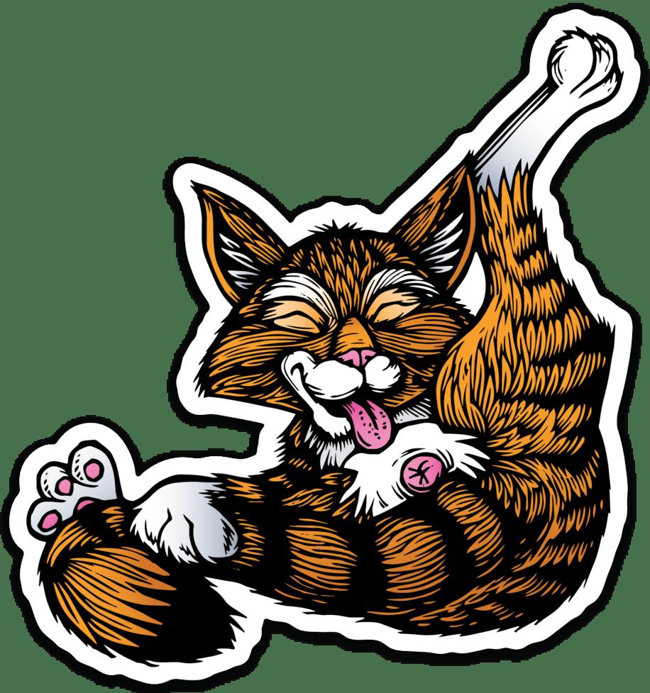 Image of Buttlicker Cat Sticker