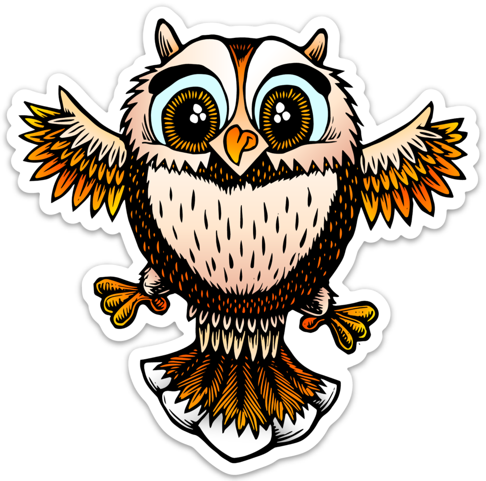 Image of Cute little owl sticker