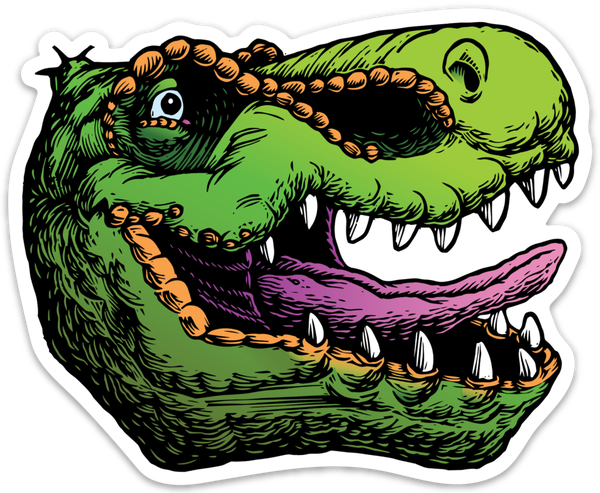 Image of T-rex head sticker