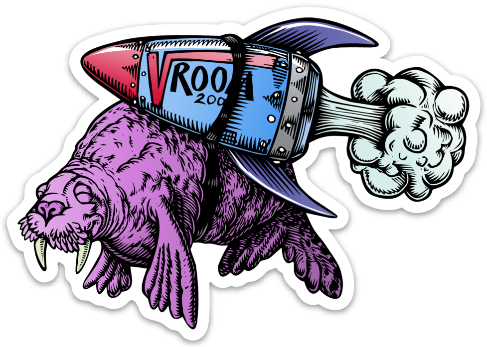 Image of Vroom Walrus Sticker