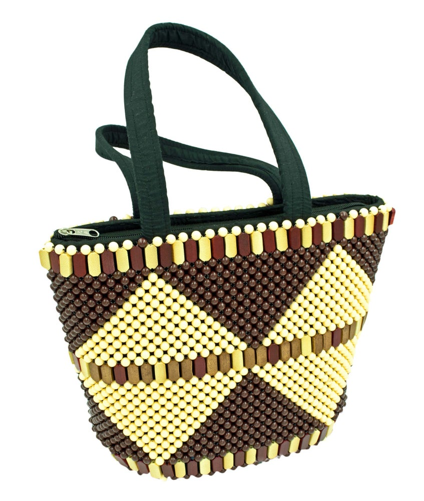 Image of Maasai-beaded handbag