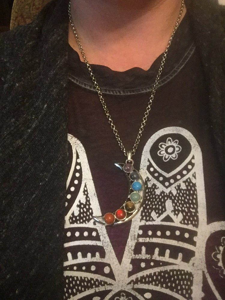 Image of Chakra Moon Necklace