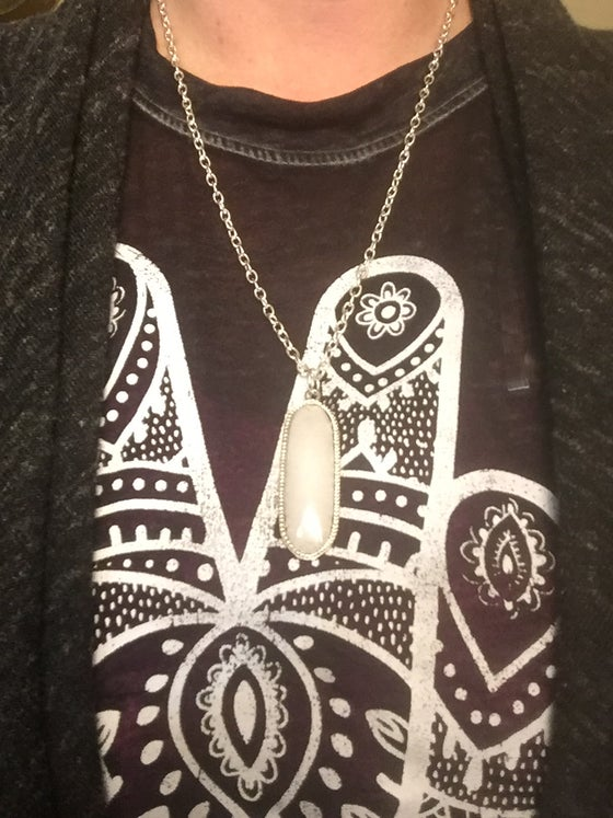 Image of Reversible Quartz Pendant on Chain