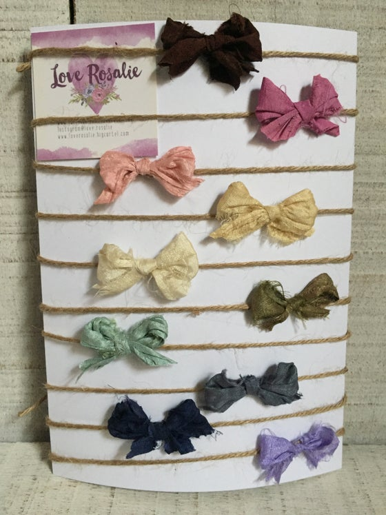 Image of Pretty bows - 10 colour options