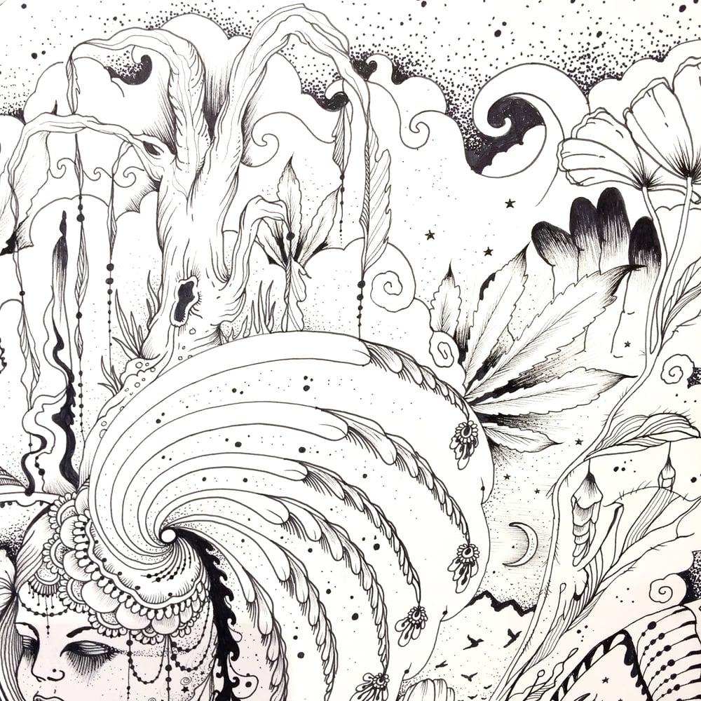 "Image of ""Lola"" 14 x 17 Freestyle drawing"