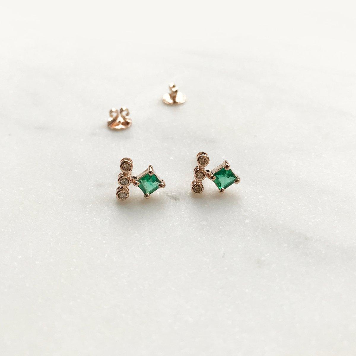 Image of Odette Emerald Earring
