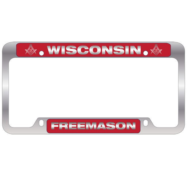 Image of TRUE CHROME ZINC ALLOY LICENSE PLATE FRAME