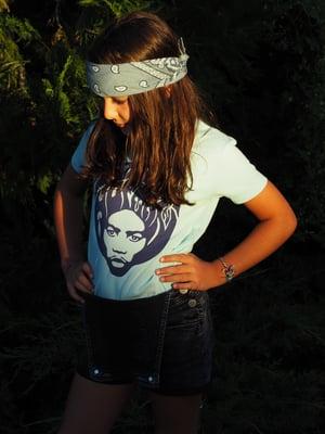 "Image of ""AFRO KIDS TEE"" - Organic Cotton - Turquoise"