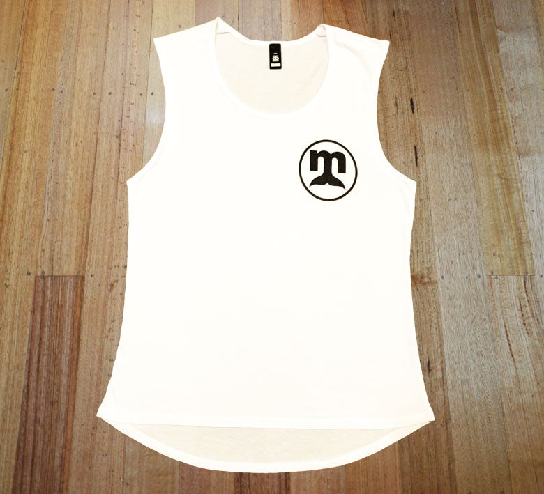 Image of White Circle Logo Singlet - Ladies